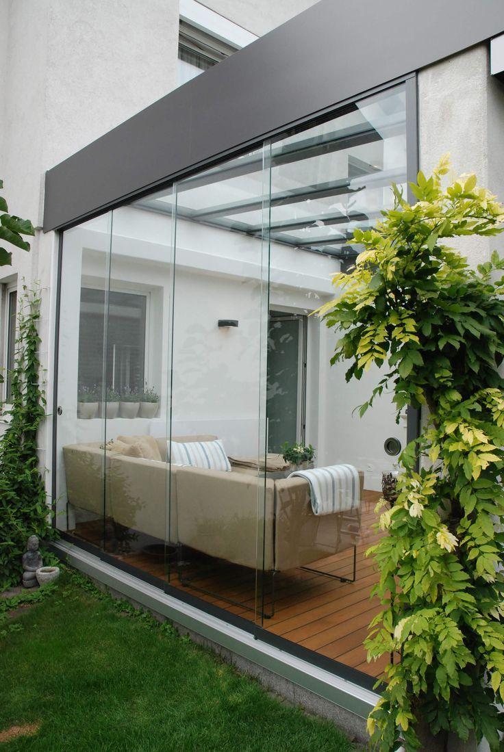 Terrasse Schiebetüren Systeme mit Dachverglasung aus VSG Gläsern ...