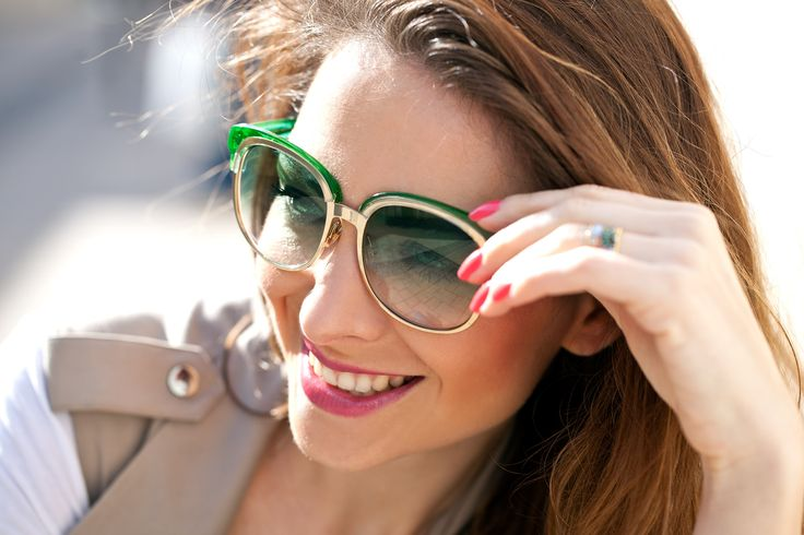 #lovelygreen #sunglasses #gucci #women #face #fashion