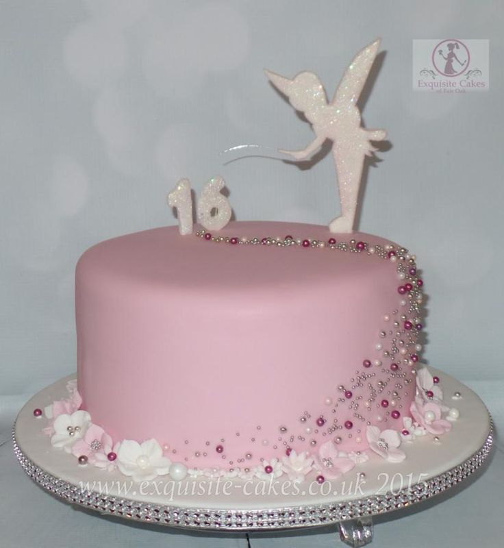 Pretty Tinkerbell cake for a 16th birthday