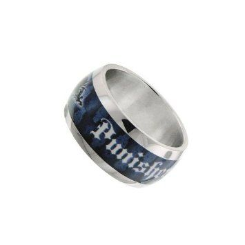 10% discount for re-pin! $25+S/H from #TheSingingSpaniel's #BridalGifts & #Collectibles - The #Punisher #Logo #Blue #Stainless #Steel #Ring - #Men's #Size #10- #Frank #Castle, #Vigilante #Antihero! - #Silver #Tone #Metal - #Officially #Licensed from #Marvel #Universe #Comics by #JewelM! - the #macabre #weapons #loaded #superhero #crimefighter - #Halloween #costumes #cosplay #SDCC #Bling #fashion & #style & #present for #geeks #freaks & #NERDS!