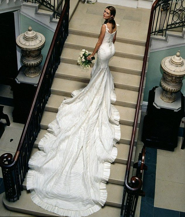Plum Sykes's wedding dress by McQueen. Wouldn't want it for myself, but it's undeniably beautiful.