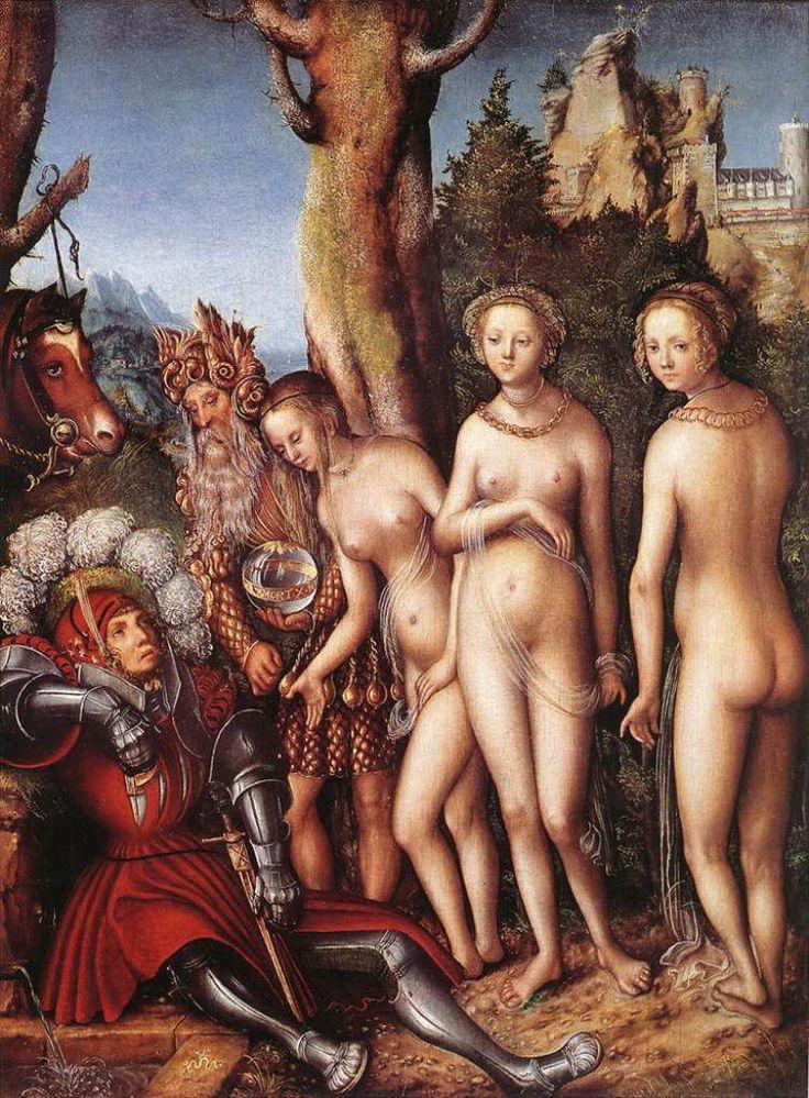 ルーカス・クラナッハ パリスの審判 1528 101,9 x 71,1 cm    メトロポリタン美術館