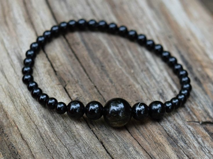 Excited to share the latest addition to my #etsy shop: Golden Sheen Obsidian and Black Tourmaline Healing Bracelet/Feng Shui/Mens bracelet http://etsy.me/2DtCPuu #jewelry #bracelet #blackagate #goldenobsidian #blacktourmaline #healingbracelet #chakra #fengshui #stretch