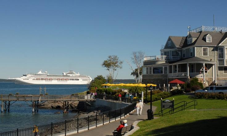 Just your average neighborhood park in Bar Harbor, Maine