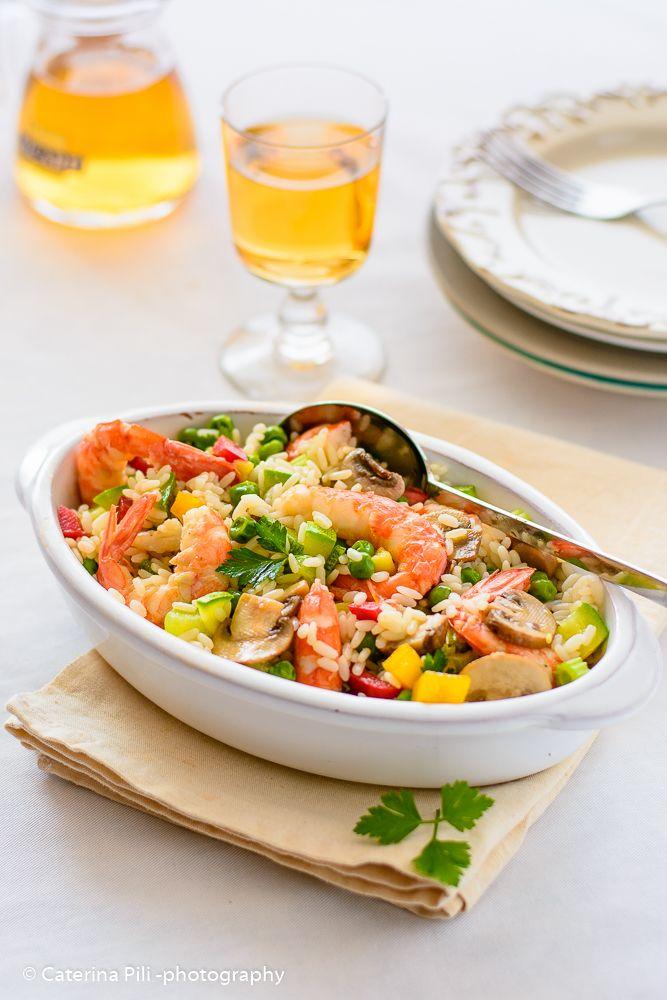 Semplicemente Light: Insalata di riso con gamberi e verdure