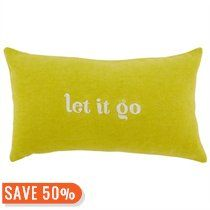 Expressions Pillow – Let It Go Pillow