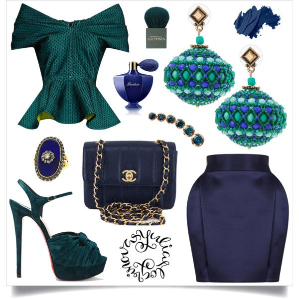 A fashion look from November 2016 by okatava featuring Emilio De La Morena, Balmain, Christian Louboutin, Chanel, Annoushka, MAC Cosmetics, Bobbi Brown Cosmetic...