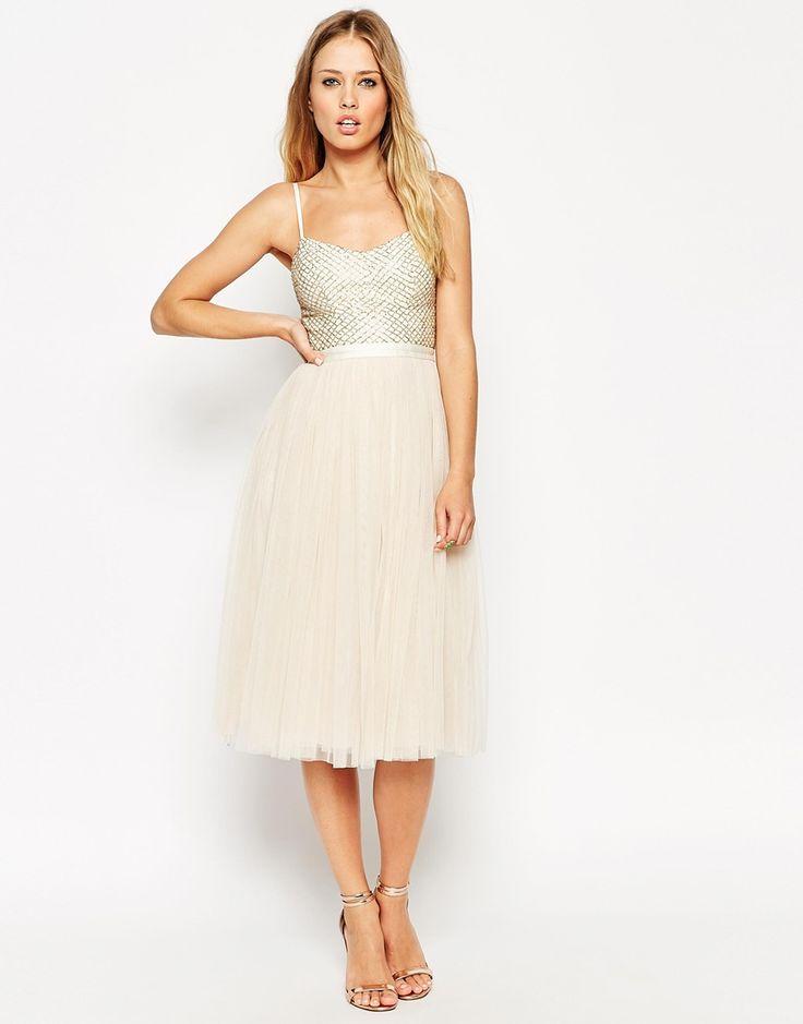 Image 1 ofNeedle & Thread Coppelia Ballet Midi Dress