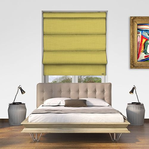 Controliss Asti Jonquil battery powered roman blind. #Shades #Home #HomeDecor #InteriorDesign #Decor #RomanBlinds #CreateYourHome #BudgetBlinds #WindowShades #Window #Design #Blind #WindowCoverings #Windows #Blinds #MadeinUK