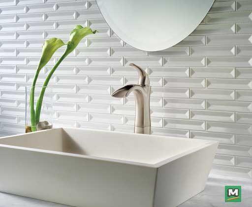 The Delta Nyla Vessel Bathroom Faucet Features A Graceful Open