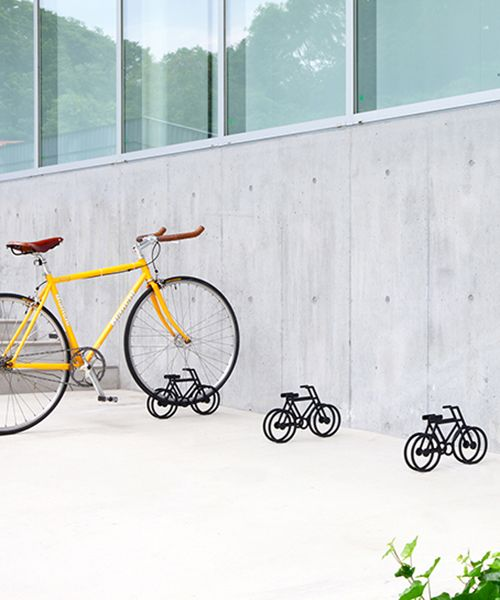 Studio Yumakano's proposed bicycle stands function as a visual sign that anyone can 'read'.