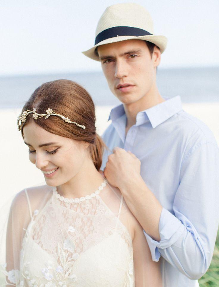 Pearl and diamante bridal headpeice from Jannie Baltzer Collection 2016 Jannie Baltzer 2016 Bridal Accessories   https://www.itakeyou.co.uk/wedding/jannie-baltzer-2016-bridal-accessories   UK Wedding Blog::