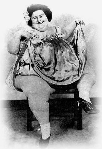 """Dolly Dimples was billed as """"The World's Prettiest Fat Girl"""" and """"The World's Most Beautiful Fat Lady"""""""
