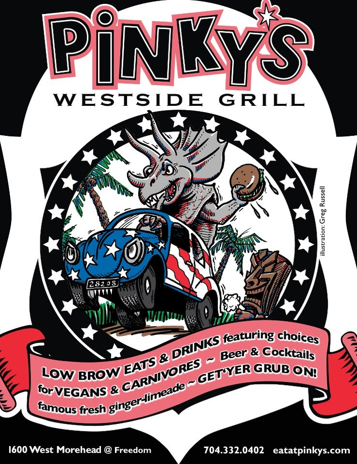 Pinky's Westside Grill featured restaurant on 2 Hungry Redheads