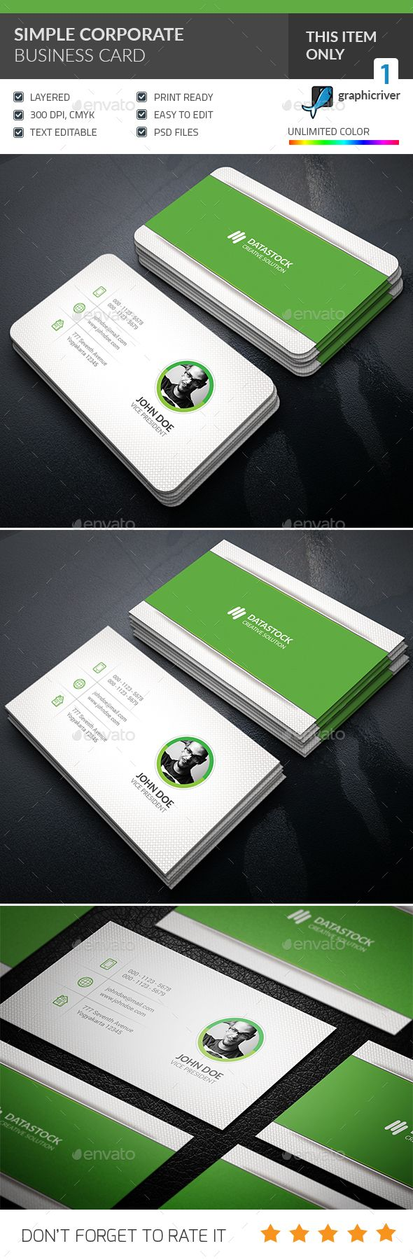 Simple Corporate Business Card Template PSD. Download here: http://graphicriver.net/item/simple-corporate-business-card-/16597910?ref=ksioks