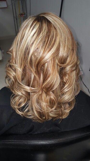 Sandy got a warm caramel and a high lift blonde. https://www.facebook.com/shorthaircutstyles/posts/1720567761566997