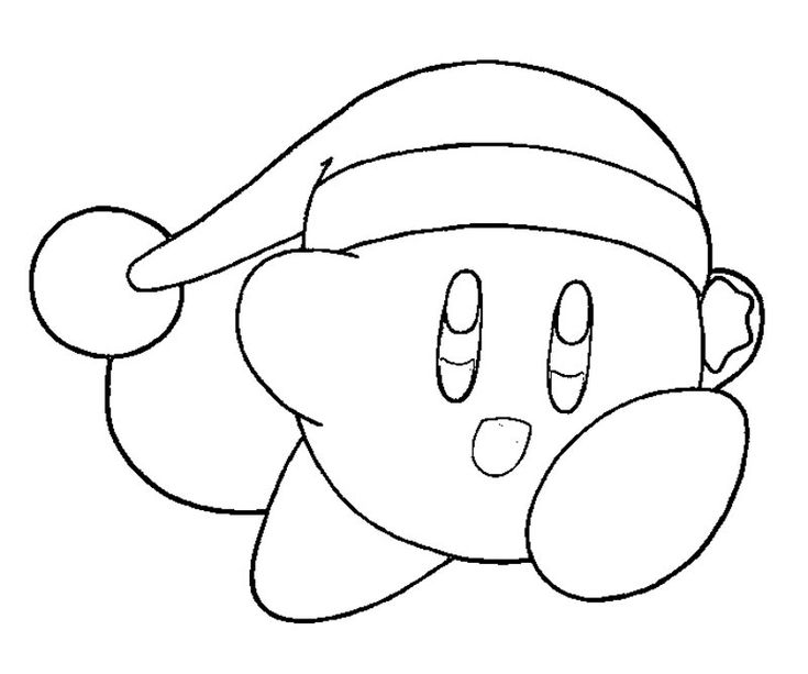 kirby coloring pages pictures