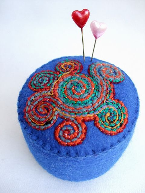 Celtic Spirals pincushion by Ali