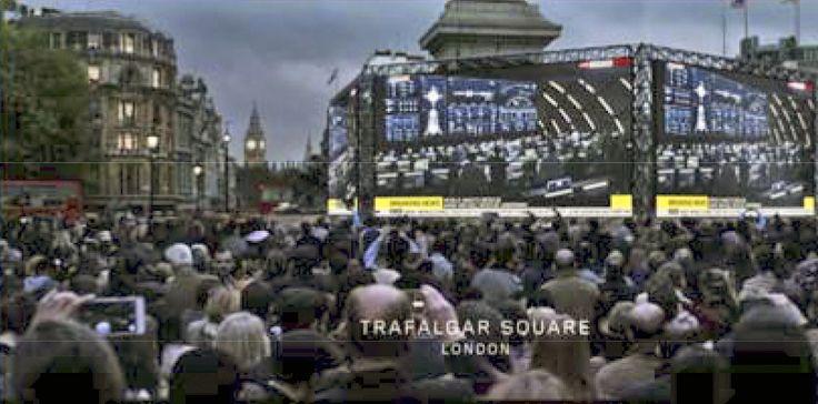 Trafalgar Square, as filmed in The Martian starring Matt Damon