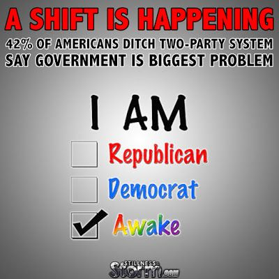 A Shift Is Happening | 42% of Americans Ditch Two-Party System, Say Government Is Biggest Problem | Stillness in the Storm