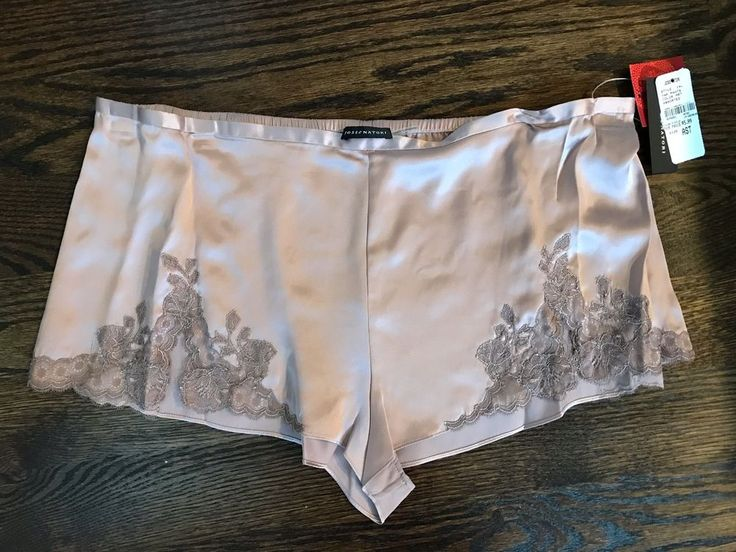 Details: Retro-inspired shorts made from luxe silk charmeuse and adorned with tonal, chantilly lace. Delicate thin waistband. LILLIAN SILK PAJAMA SHORTS. | eBay!