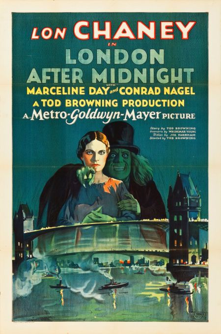 """Movie Posters:Horror, London After Midnight (MGM, 1927). One Sheet (27"""" X 41"""").. ... Image #1"""