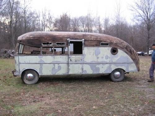 1947 Packard Prig Motorhome. Listed for sale on TCT website.  How cool would that be totally restored? vintage-rv-s-and-inspirations