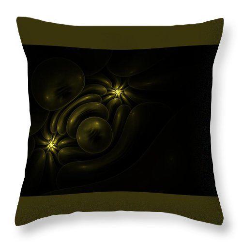 Fractal Throw Pillow featuring the photograph Hidden Treasure. Version 2 by Elena Ivanova IvEA   #ElenaIvanovaIvEAFineArtDesign #Design #Pillow #Cushiоn #HomeDecor #Gift
