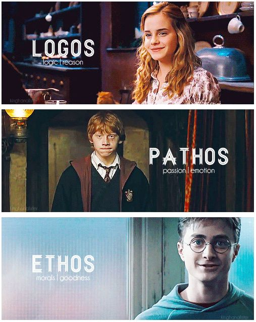 This image shows logos because Hermione was always the logical character in Harry Potter.