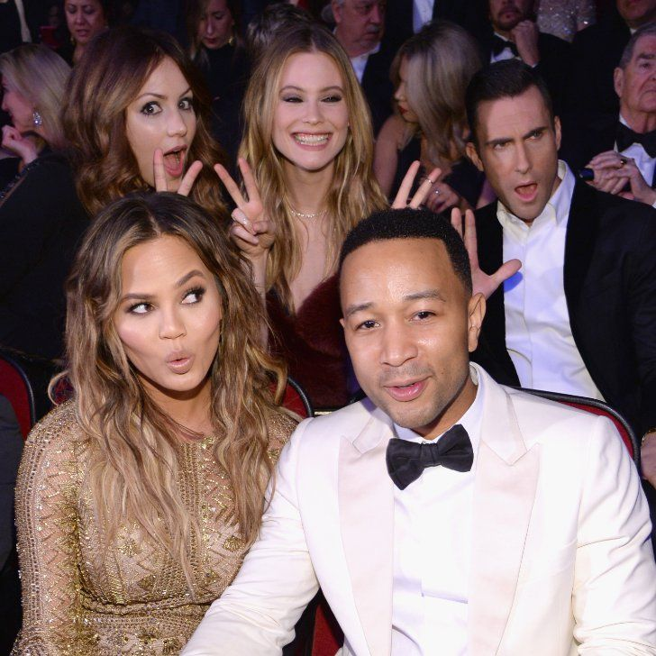 Chrissy Teigen and John Legend Have a Dream Date Night With Adam Levine and Alicia Keys