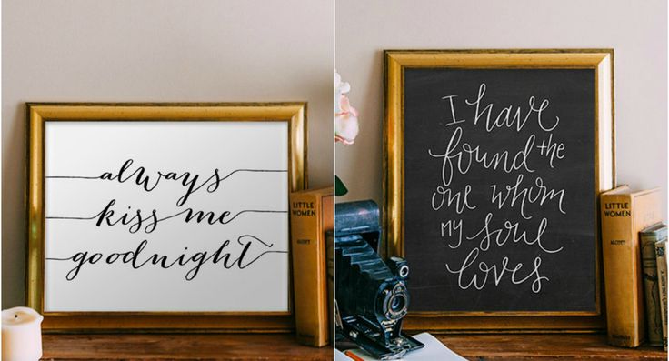 Printable Wall Art With Romantic Quotes | 15 Sentimental Wedding Gifts for the Couple