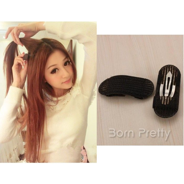 $1.79 2pcs Black Wide Stretch Hair Band Tie Ponytailer - BornPrettyStore.com