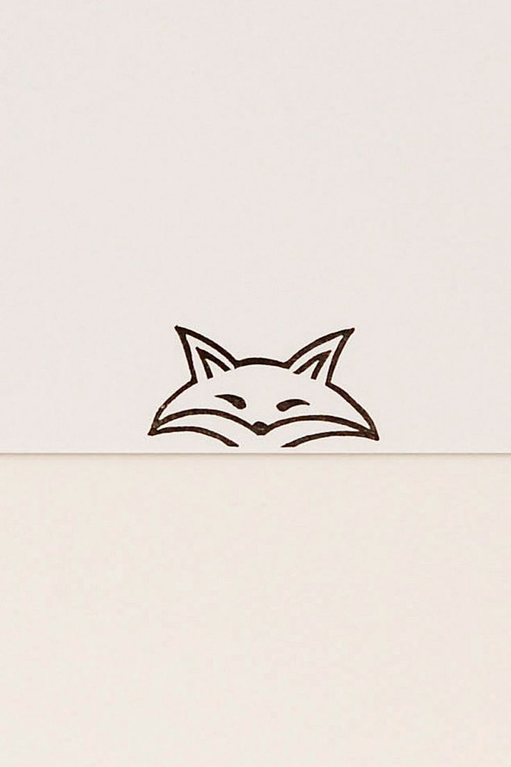 A funny pursy eyes fox peek-a-boo stamp by WoodlandTale on Etsy
