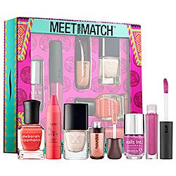 I got this and love it! Fun variety of nail colors and that small lipstick is my new fave. #sephoraMakeup Values Sets, Matching, Gift Ideas, Lips Products, Makeup Value Sets,  Lips Rouge, Sephora Favorite, Beautiful Products, Favorite Meeting
