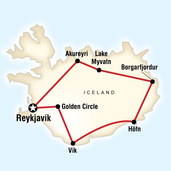 - If you're looking for a fast but full visit around Iceland, this seven-day...