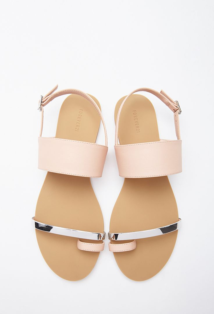 Silver sandals or shoes - Faux Leather Toe Sandal Forever21 2000098763
