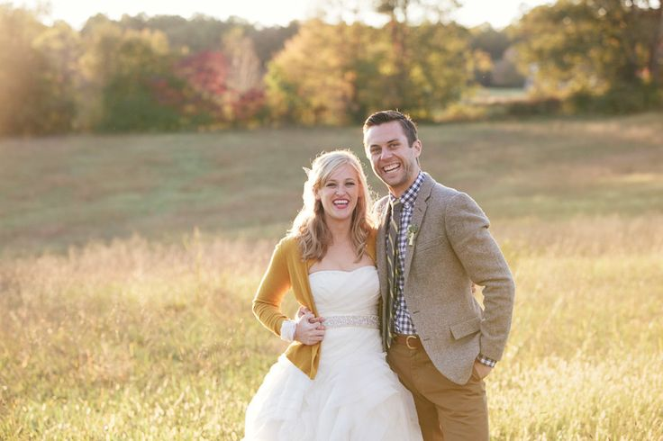 Mustard + Plaid Fall Wedding  Fall Wedding at Sycamore Farm Bloomington  Read more - http://www.stylemepretty.com/2014/03/03/fall-wedding-at-sycamore-farm-bloomington/