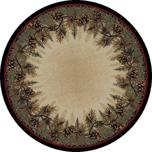 5 ft round rustic rug