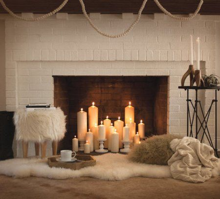 Candelabra fireplace ideas candleabra fireplace insert pinterest