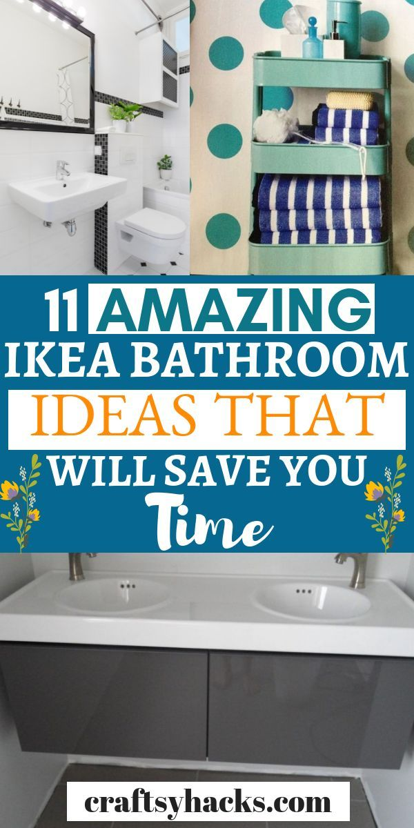 11 Stunning Ikea Bathroom Ideas For A Tiny Budget Ikea Bathroom Budget Furniture Ikea Diy