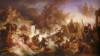 Battle of Salamis 480 BC Greek City States Fleet vs Persian Fleet