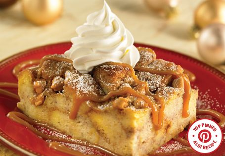 Top Pinned Recipe: Caramel Apple Bread Pudding. A great dessert to warm up with!