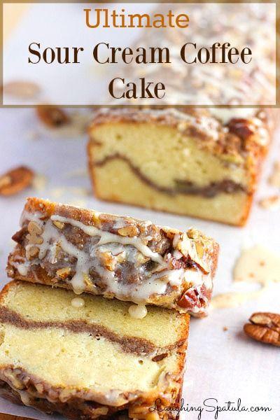 Ultimate Sour Cream Coffee Cake Recipe - (laughingspatula)