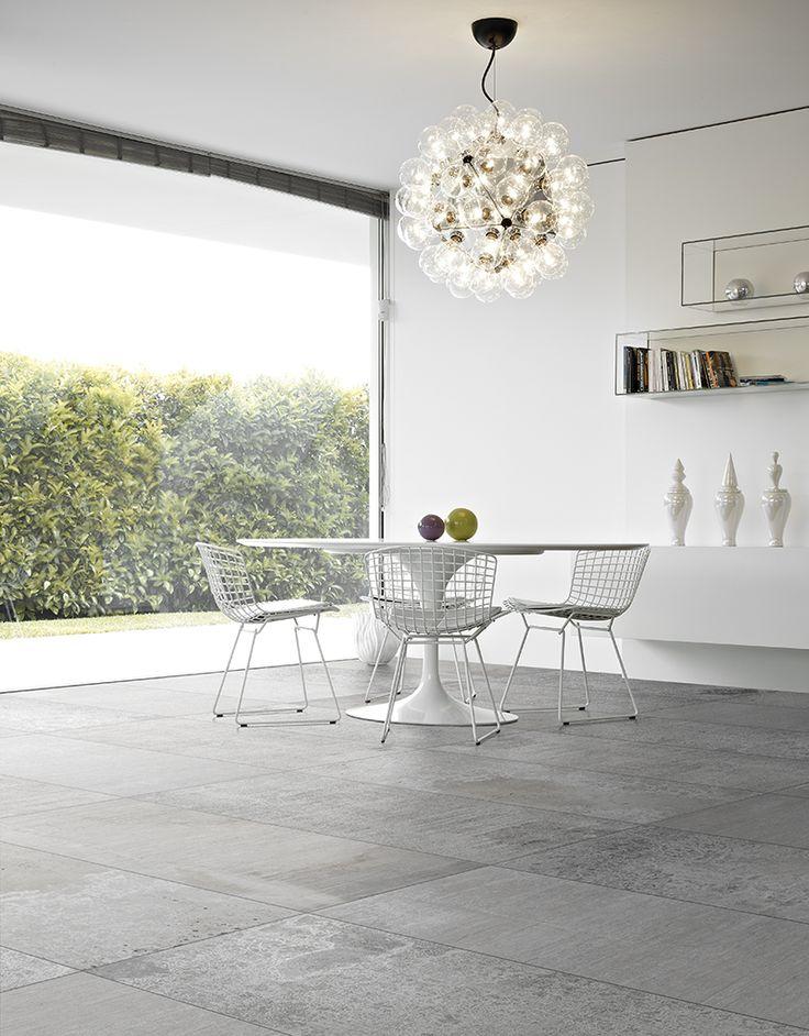 METALBAK Argento 75*75 Natural-Rectified Floor Usage