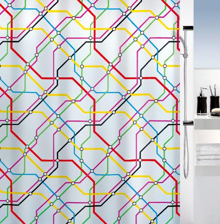 London fans will love this #Spirella Metro shower curtain! #london # underground #