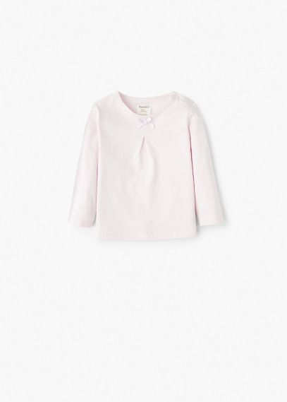 T-shirt met strik | MANGO KIDS