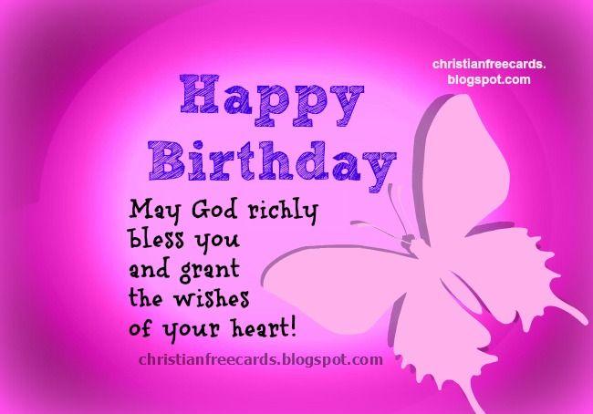 Free Christian Birthday Card Verses
