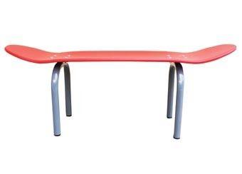 origineel skateboard zitbankje uit hout