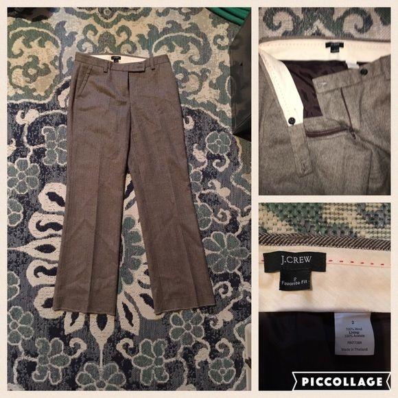J.Crew 100% wool women's trouser  Gorg herringbone pattern! Women's j crew trouser size 2. 100% wool pants! Classy wear to work piece J. Crew Pants Trousers