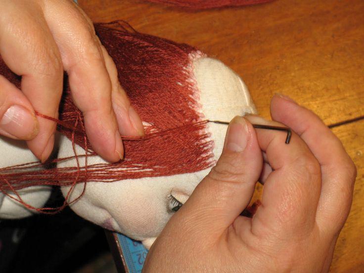 марина баданина: МК - волосы для куклы
